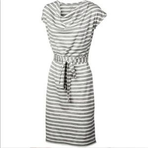 Icebreaker grey striped Pizzano dress size Medium